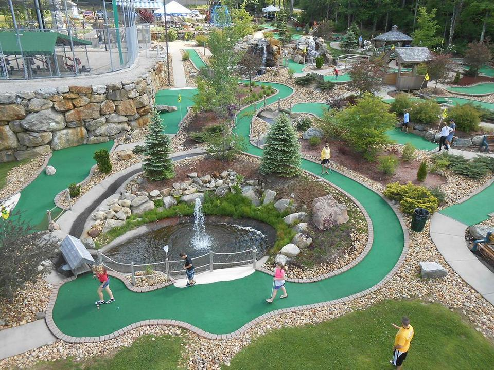 The 13th hole at Chuckster's Family Fun Park is a par 3 that is more than 200 feet long.